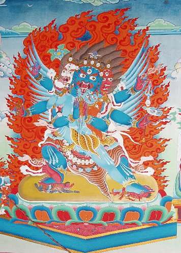 Wall painting of Vajrakilaya