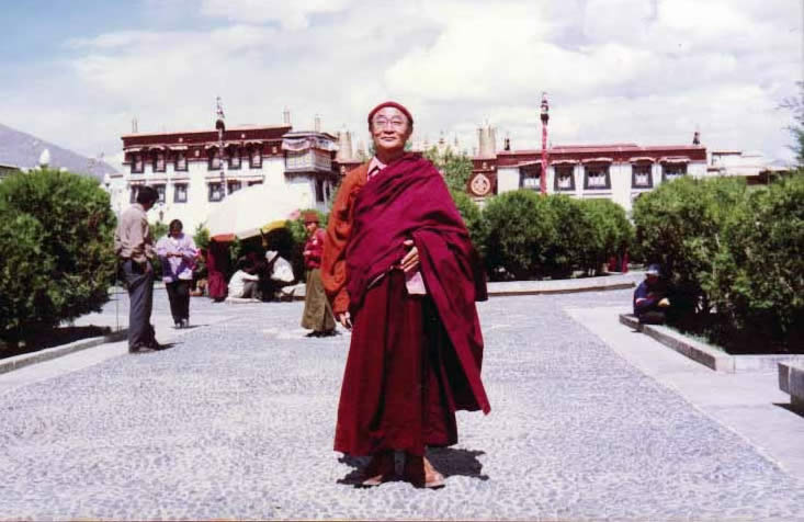 Rinpoche in front of Jokhang Temple, Lhasa
